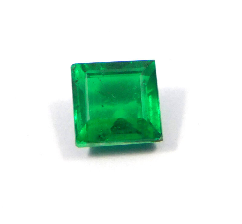 6.53 Cts. Faceted Green Emerald Simulant Loose Gemstone RM18819