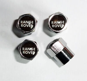 Range Rover Chrome Wheel Valve Dust Caps.Sport Vogue HSE Evoque