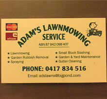 Adam's Lawnmowing Service Gawler Gawler Area Preview