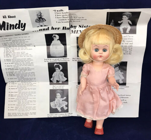 Vintage 1950 s Mindy Doll By Active Doll Corporation With Advertisement - $54.99