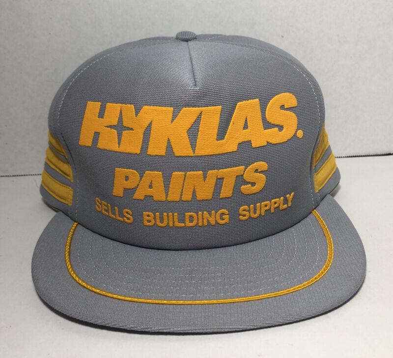 Vtg 3 Stripes Trucker Hat Made In USA