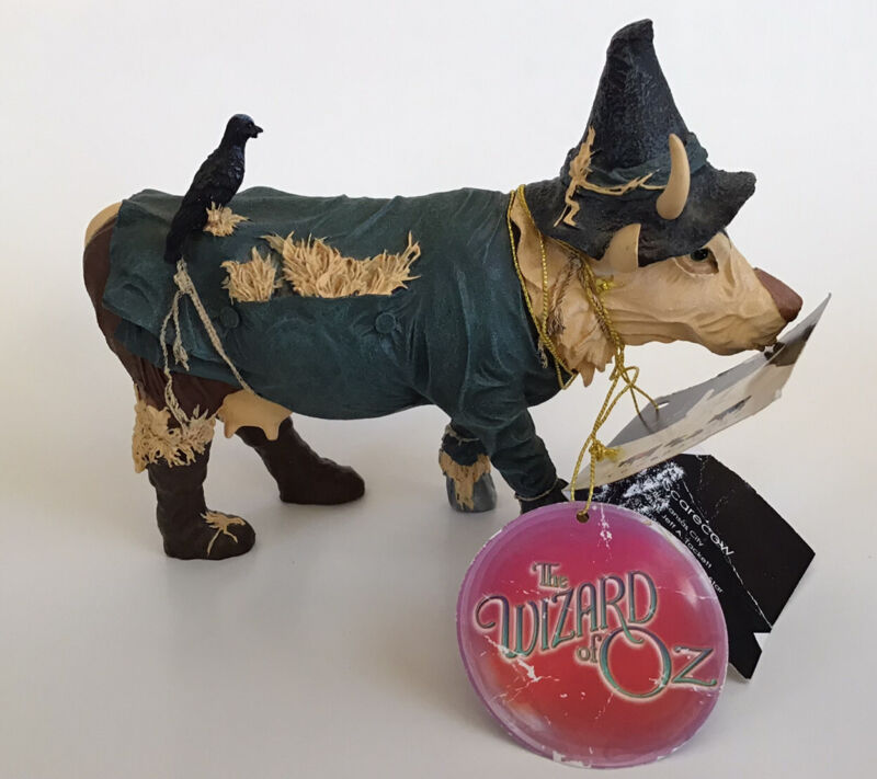 Wizard of Oz Scarecrow Cow Parade 7243 Westland Figurine 2002