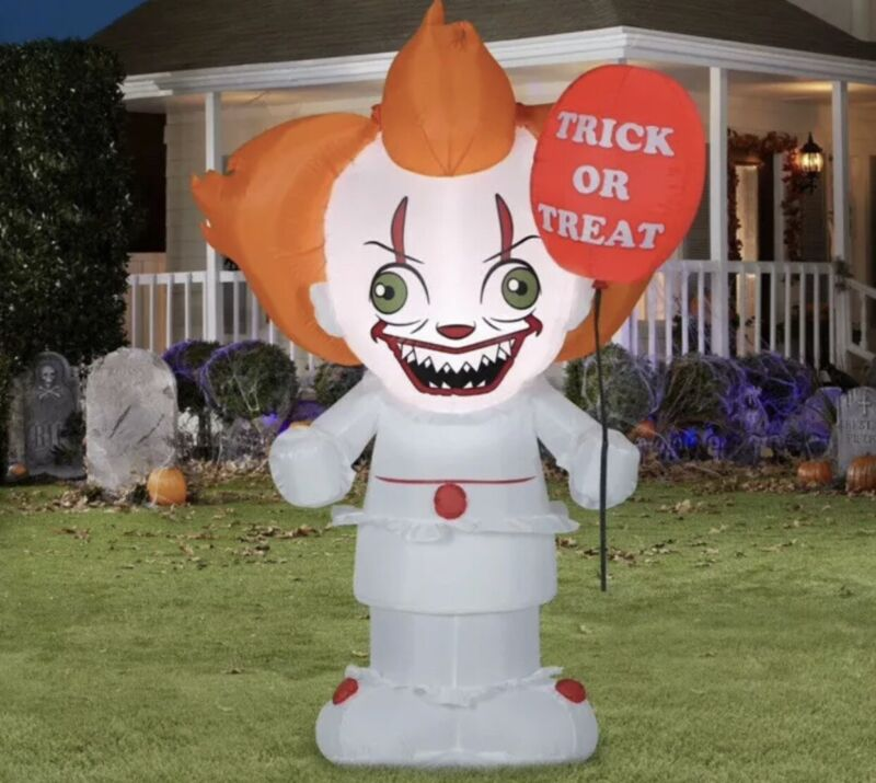 """5ft Airblown Inflatable LED Halloween """"IT"""" Chapter 2 Stylized Pennywise NIB"""