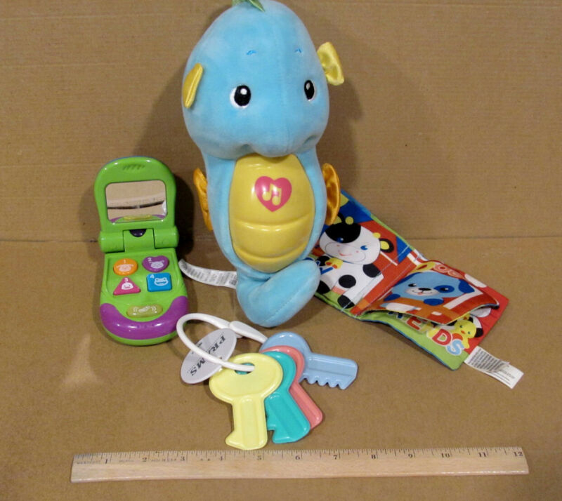 BABY TOTS in a LOT  GLOW WORM,BOOK,KEYS,PHONE PRE-OWNED