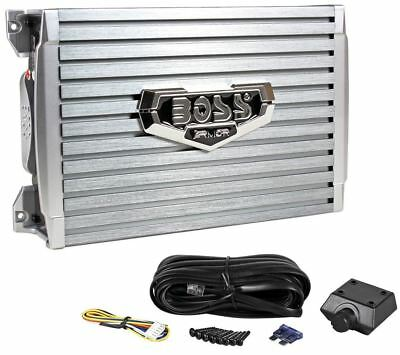 Boss Armor AR1200.2 1200 Watt 2-Channel Car Audio Amplifier Amp + Level Remote