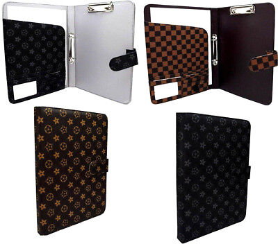 New A4 Conference Folder Faux Leather Portfolio Organiser Ring Binder