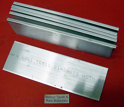 6 Pieces 14 X 3 Aluminum 6061 Flat Bar 6 Long T6511 Solid Plate Mill Stock