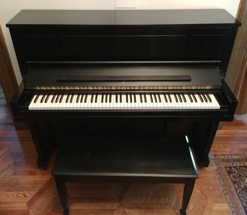 "Vintage STEINWAY & SONS Upright Piano. Model 1098 / 46.5"" Good Condition"