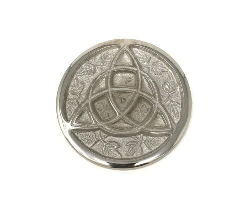 "3"" Silver Plated Triquetra Incense Cone Sage Smudge BURNER Pentagram FREE SHIP"