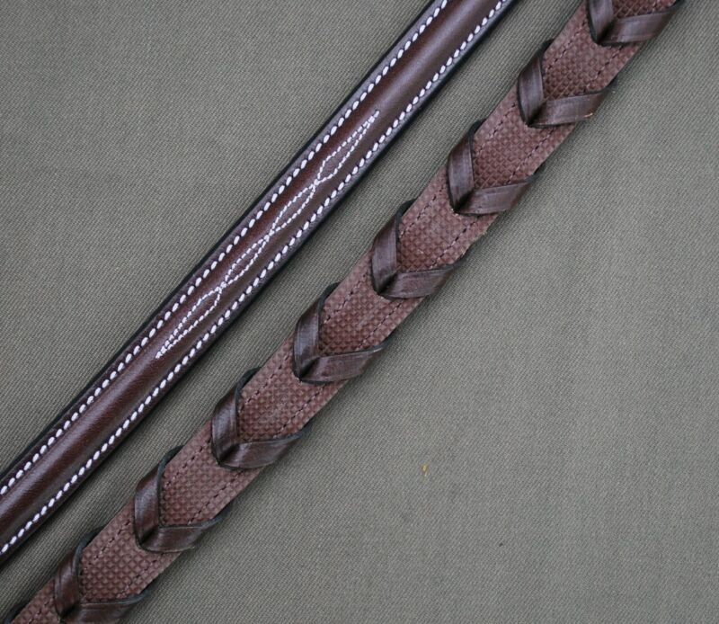 KL Select Red Barn Stealth Rubber Lined Laced Reins