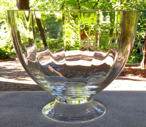 Orrefors Crystal  Optica (Symphony) Large Footed Bowl  Mint