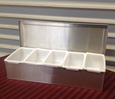 New 5 Compartment Bar Garnish Tray Thunder Group Sscd005 2048 Condiment Fruit