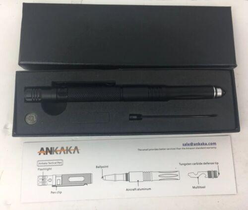 ANKAKA Tactical Pen Flashlight Multitool Tungsten Carbide De