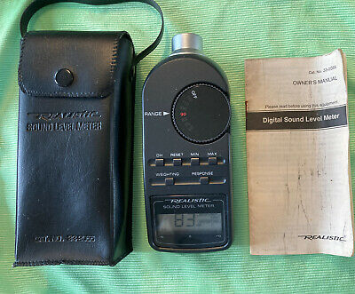 Realistic Radio Shack Digital Sound Level Meter 33-2055 Case Manual Tested