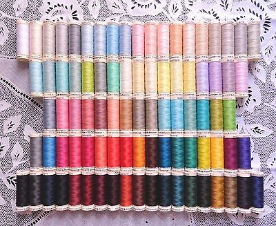 87 Different colors GUTERMANN 100% polyester sew-all thread 110 yard spools