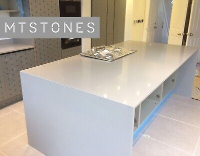 GREY GALAXY LIGHT QUARTZ KITCHEN WORKTOP SAMPLE I  ALL COLOURS AVAILABLE