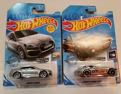 LOT Of 2 Hot Wheels Zamac Cars AUDI RS 5 COUPE - CORVETTE GRAND SPORT
