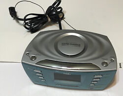 Timex T439S Dual Alarm Clock Radio w/ Multi-Direction Sound Chambe Snooze CD MP3