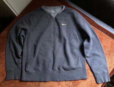 Vtg Nike Sweatshirt Jumper Sz L 00s 90s Retro Grey