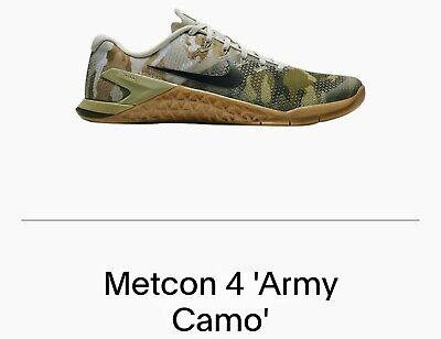 Brand New No Box Nike Metcon 4 'Army Camo' Men's 18