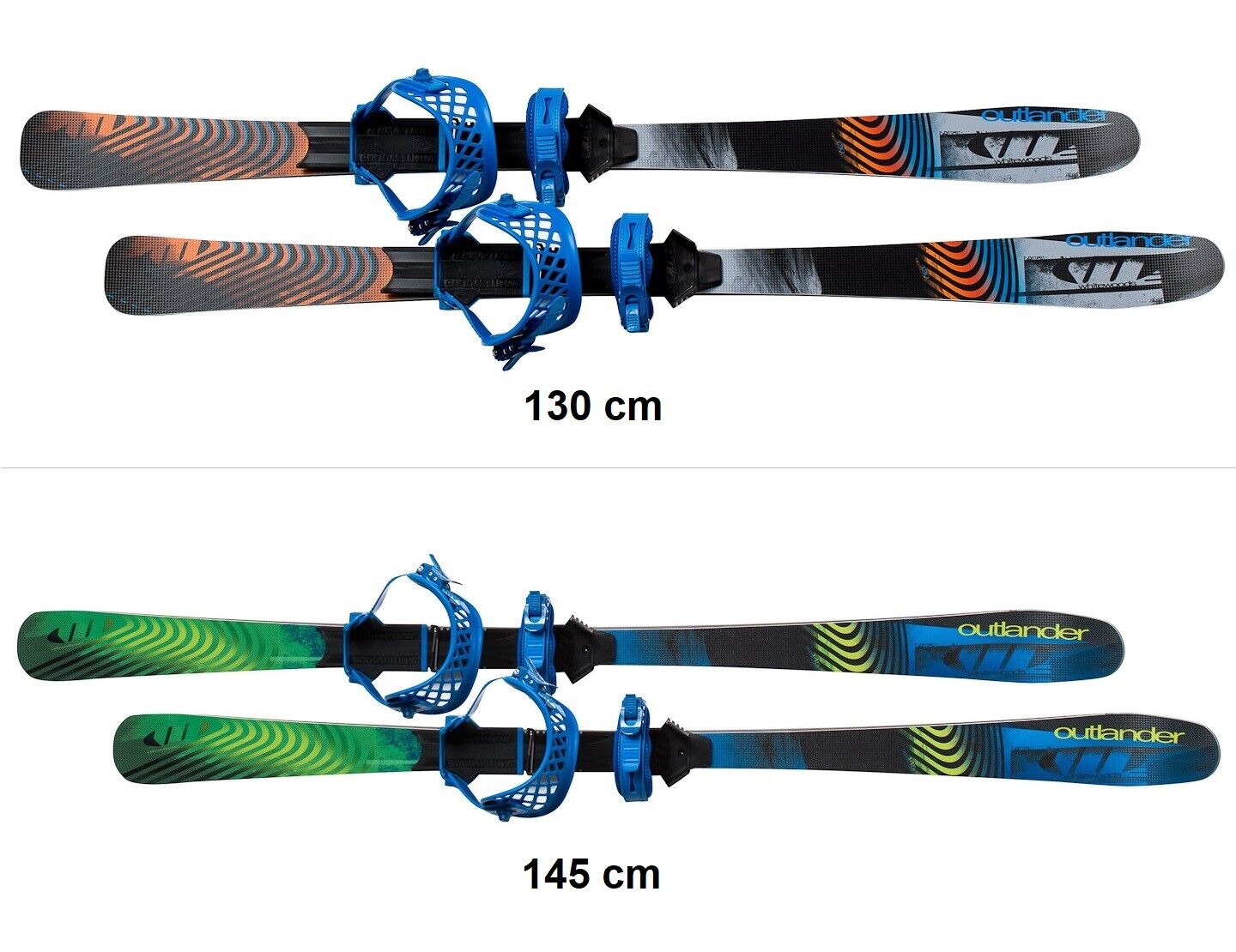 как выглядит Whitewoods OUTLANDER Cross Country Skis Bindings - Snowshoe Grip, Nordic Glide фото