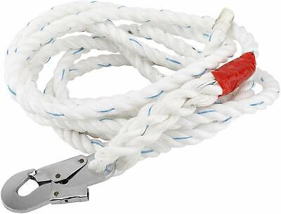 Yaegarden 25ft Fall Protection Vertical Lifeline Rope Brand New