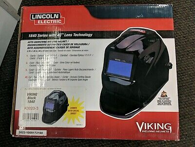 Lincoln Electric K3023-3 Viking 1840 Auto Darkening Welding Helmet - Black