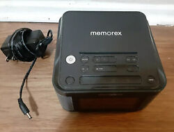 Memorex Universal Charging Alarm Clock with FM radio Black