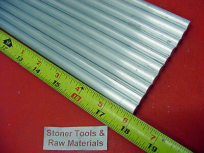10 Pieces 38 Aluminum 6061 Round Rod 18 Long T6511 .375 Solid Lathe Bar Stock