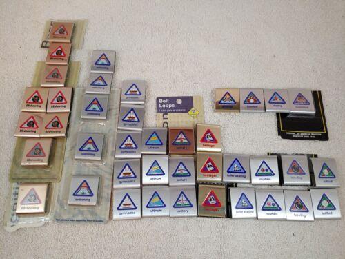 40 Cub Boy Scout Belt Loop Achievement Merit Award Badges Lot BSA Metal