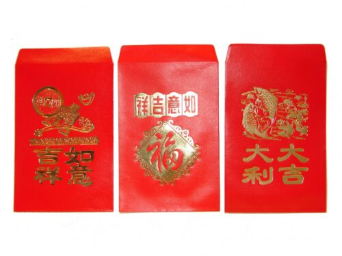 120PCS Chinese New Year Red Money Envelope HongBao Red Packet Red Money Bag