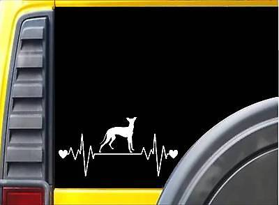 "Italian Greyhound Lifeline K990 8"" vinyl sticker dog decal"