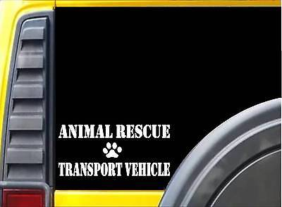 Animal Rescue Transport Vehicle L030 8 Inch paw heartbeat dog decal