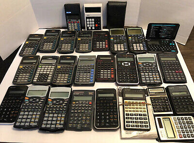 Huge Lot Of 27 Calculators Texas Instruments TI-30X, TI-83 Graphing Calculator +
