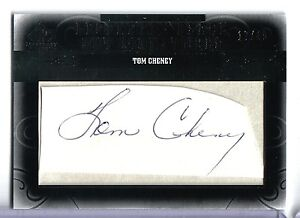 2011 SP Legendary Cuts Tom Cheney Legendary Black CUT SIGNATURE Auto #17/40