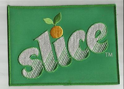 "2 Vtg Pepsico SLICE  Uniform Jacket Patches 1970s-80s 8.5"" X 6"" Embroidered NOS"