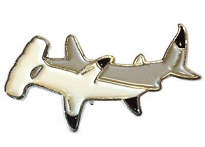 Hammerhead Shark Fish Angling Fisherman Angler Enamel Pin Badge Brooch NEW 25mm