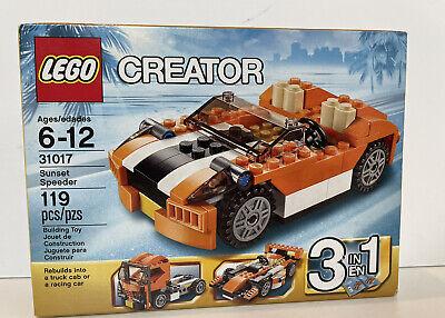 NIB LEGO Creator Sunset Speeder Orange 31017 New in Dented box Race Car Truck