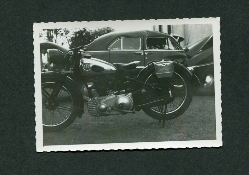 2 Vintage Photos of NSJ Motorcycle 986041