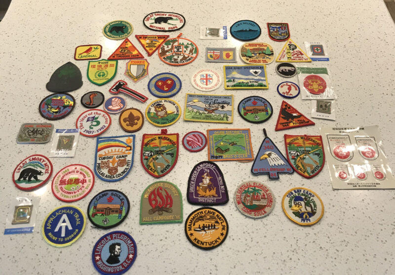 Lot Of 50+ Vintage Boy Scout Patches, Various Years and Ocassions - Some Japan