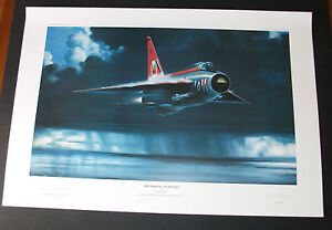 Aviation-Art-Lightning-F1A-Thundering-Lightning-Artist-Test-Pilot-signed