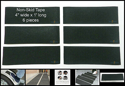 6 4 X 1 Non Skid Tape Black Roll Safety Anti Slip Sticker Grip Safe Grit