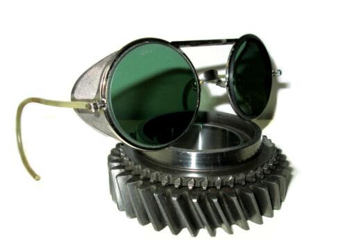 Antique Green Willson Sunglasses Goggles Vtg Rockabilly Steampunk Safety Glasses