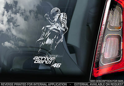 Valentino Rossi #46 - Car Window Sticker - 'Arrivederci' Yamaha Doctor Sign -V08