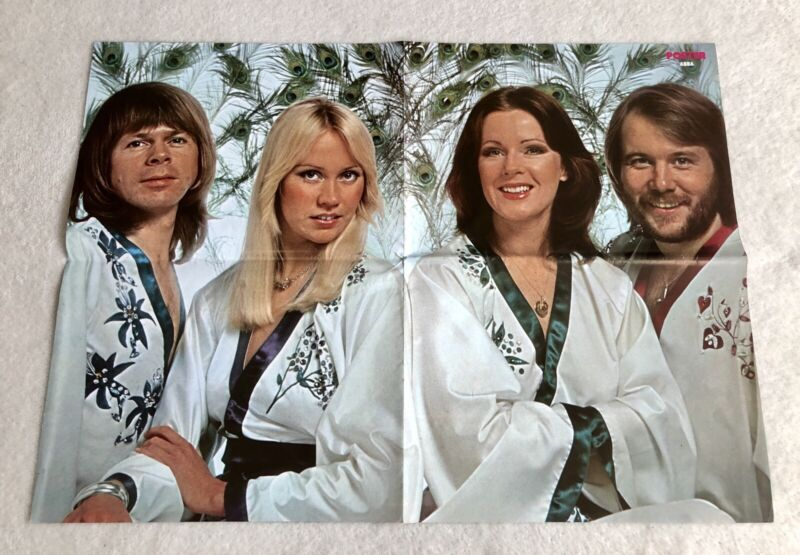 ABBA POSTER 1976 Swedish Poster Magazine 1970s Vintage Rare