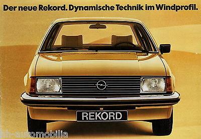 Prospekt Opel Rekord 8 77 Autoprospekt 1977 Broschüre Auto brochure broschyr