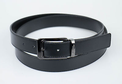 NIB. VERSACE COLLECTION Black Leather Belt Size 48 Cut To Size $295