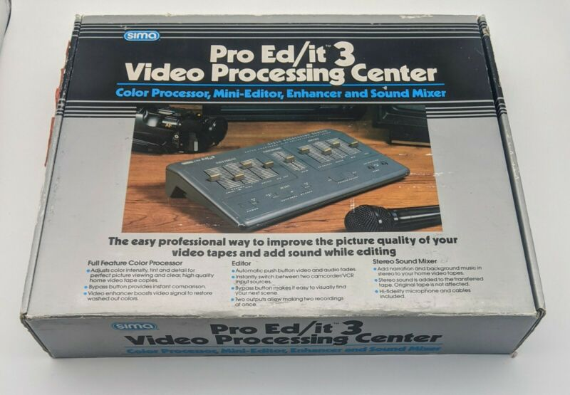 Sima Pro Ed/it 3 Video Processing Center COMPLETE Editor Enhancer Audio Mixer