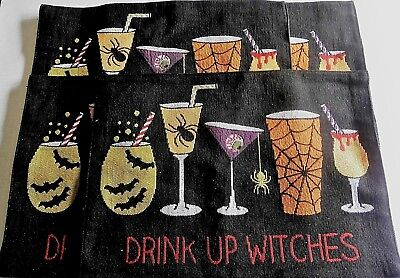 HALLOWEEN Tapestry Placemat's  DRINK UP WITCHES 13