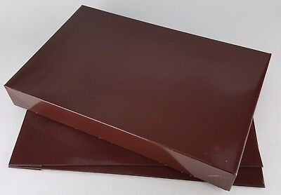 """2 PACK BROWN FOLDABLE GIFT BOXES LARGE SIZE BOX 15"""" X 9-1/2"""" X 2"""""""